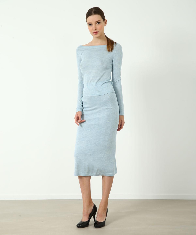 Shirley Luxe Silk Pencil Skirt