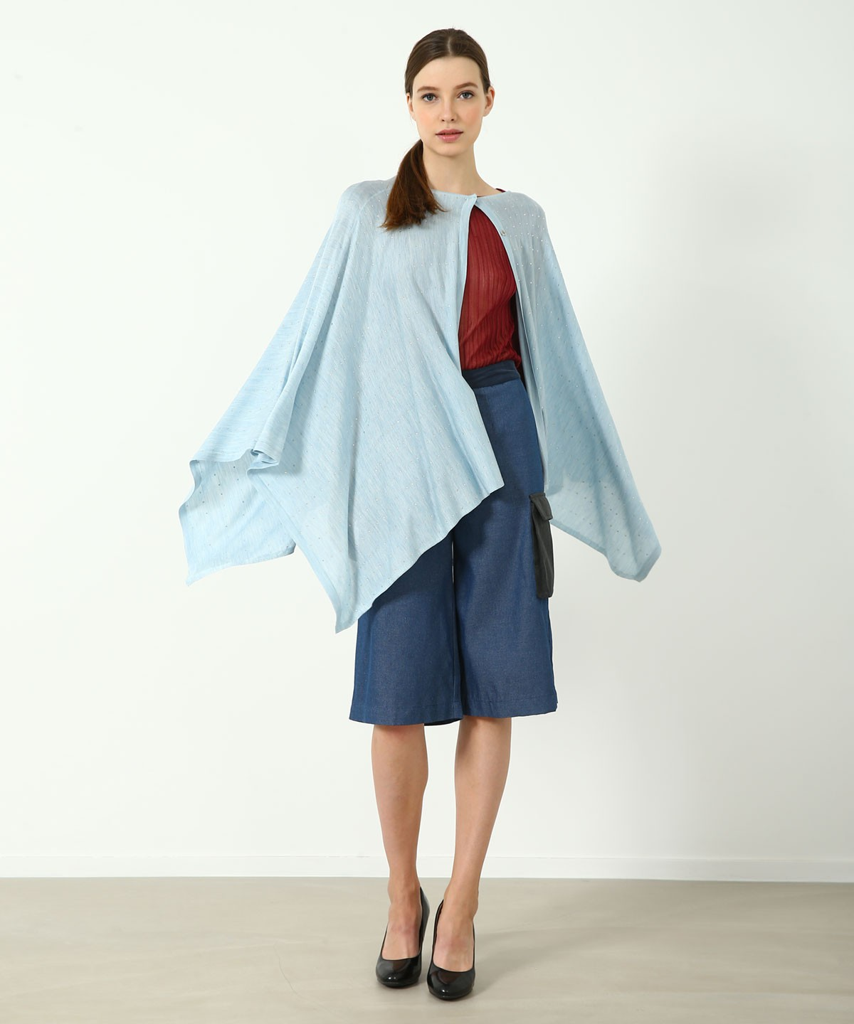 Temple Luxe Silk Crystal Cape