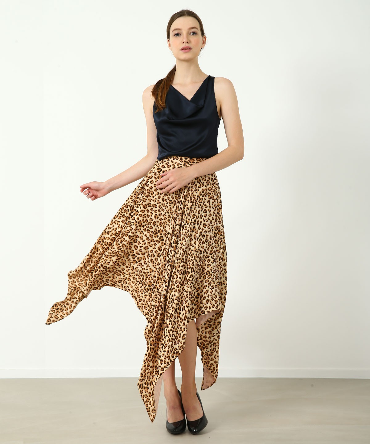 LOOK AT ME Leopard Skirt - Crystals