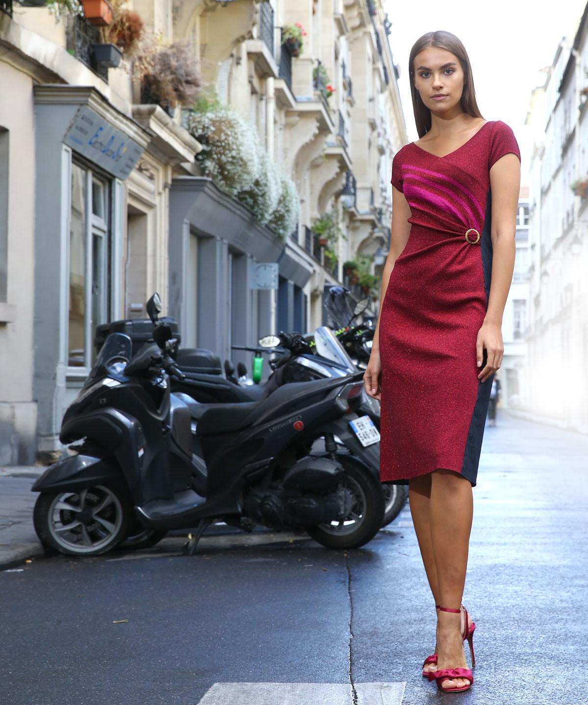 Metallic Dress - Knitted